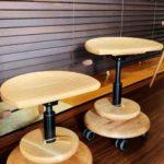 木の椅子展♯11 ムーンスツールは明日から!