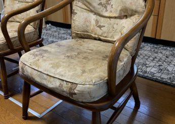 椅子の背と座面の張替え