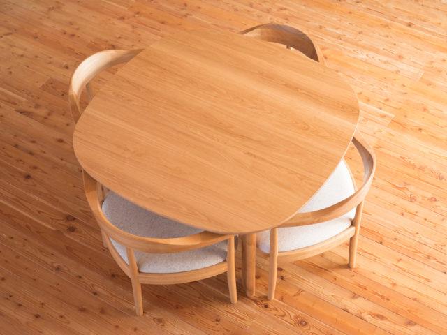 角のないテーブル